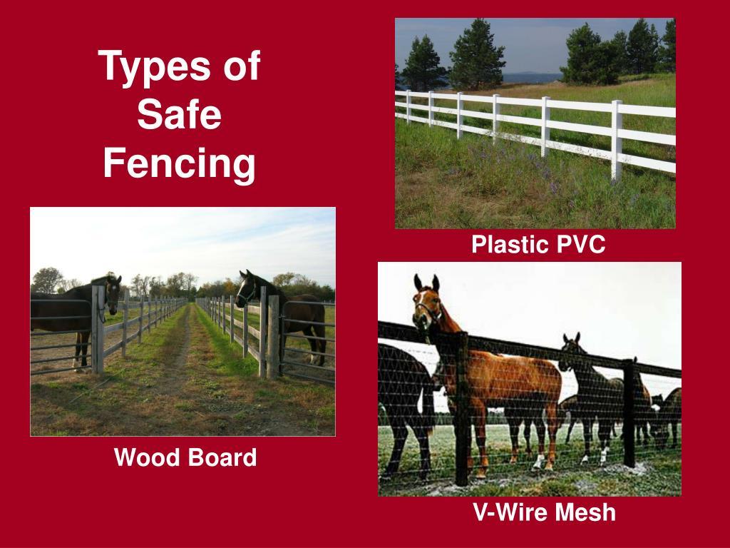 Types of Safe Fencing
