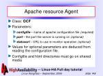 apache resource agent