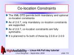 co location constraints