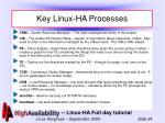 key linux ha processes