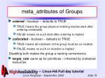 meta attributes of groups