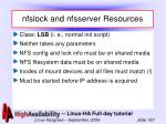 nfslock and nfsserver resources