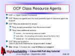 ocf class resource agents