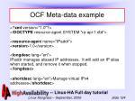 ocf meta data example