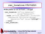 rsc location information