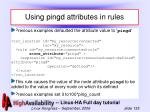 using pingd attributes in rules