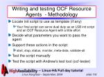 writing and testing ocf resource agents methodology