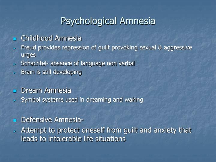 an essay on infantile amnesia Although universally observed, infantile amnesia is a paradox adults have surprisingly few memories of early childhood despite the seemingly however, the finding that experimental animals also show infantile amnesia suggests that this phenomenon cannot be explained fully in purely human terms.