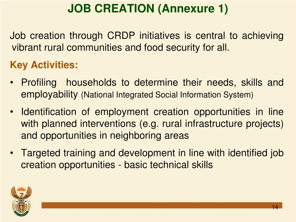 JOB CREATION (Annexure 1)