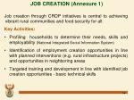 job creation annexure 1