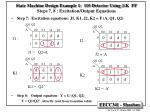 state machine design example 1 110 detector using j k ff steps 7 8 excitation output equations