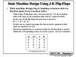 state machine design using j k flip flops