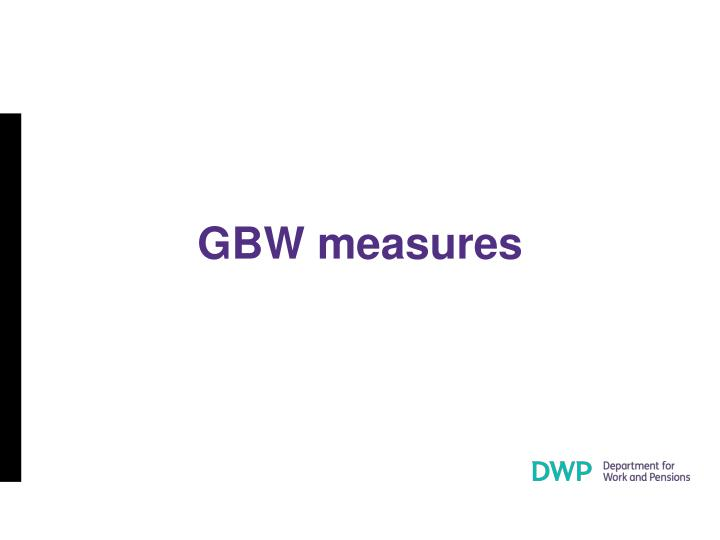 GBW measures