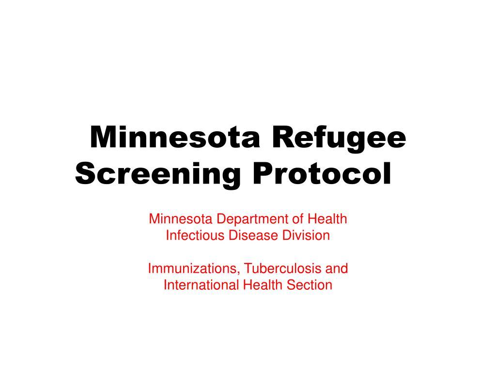 minnesota refugee screening protocol l.