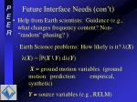 future interface needs con t