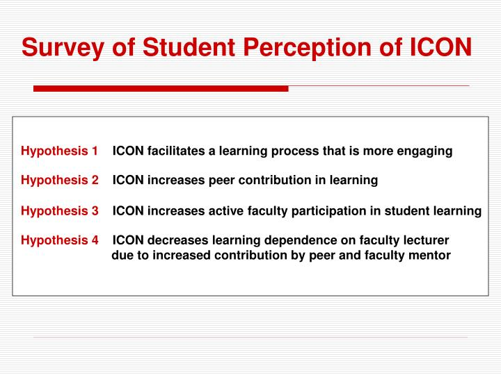 Survey of Student Perception of ICON