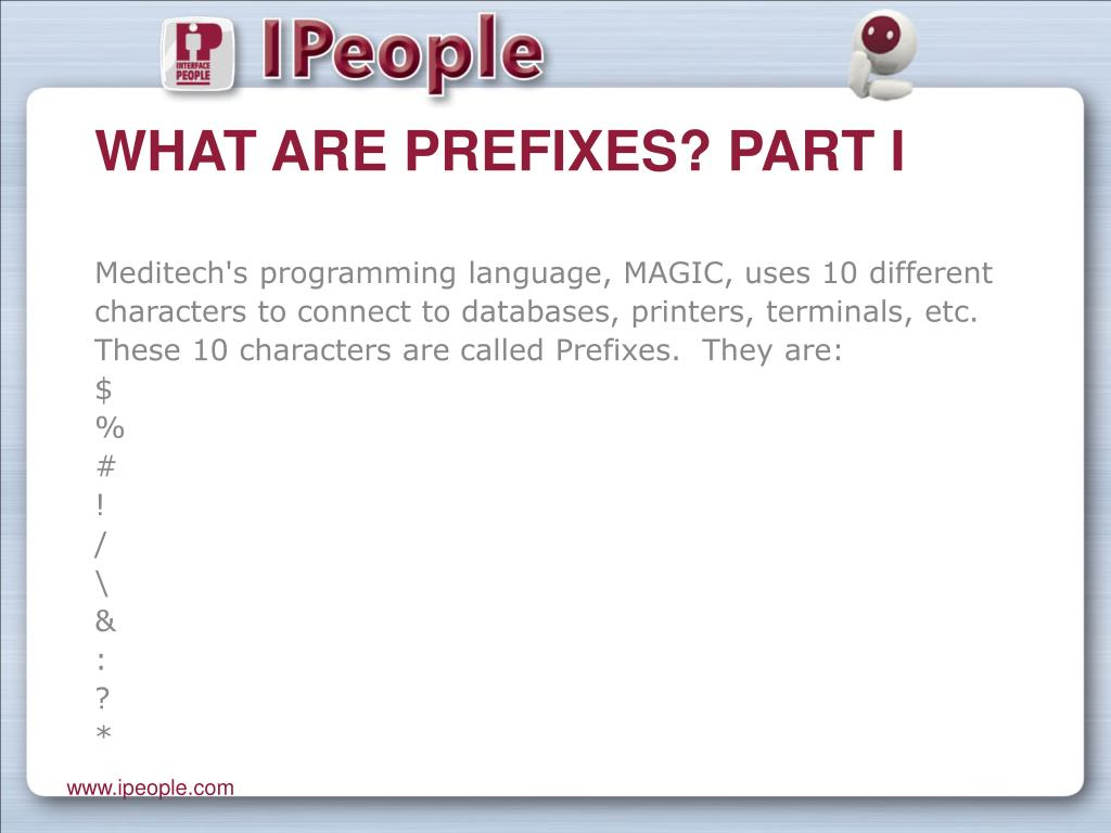What are Prefixes? Part I