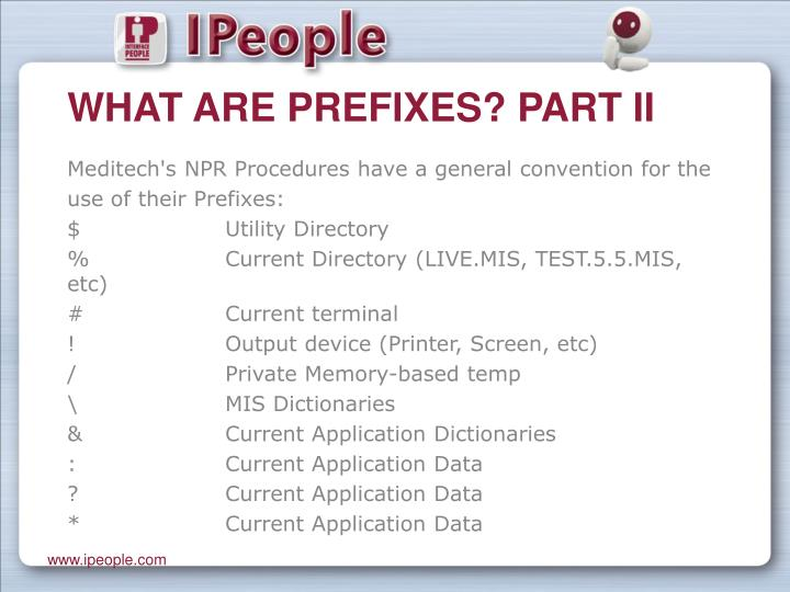 What are prefixes part ii