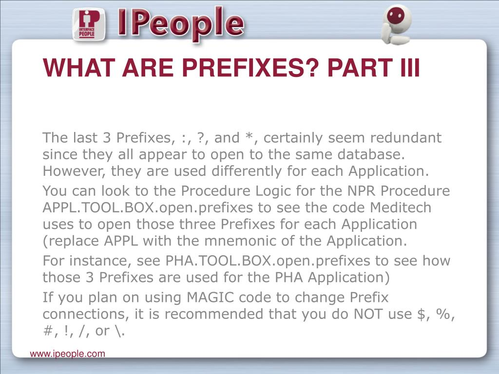 What are Prefixes? Part III