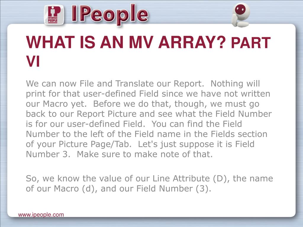 What is an MV Array?