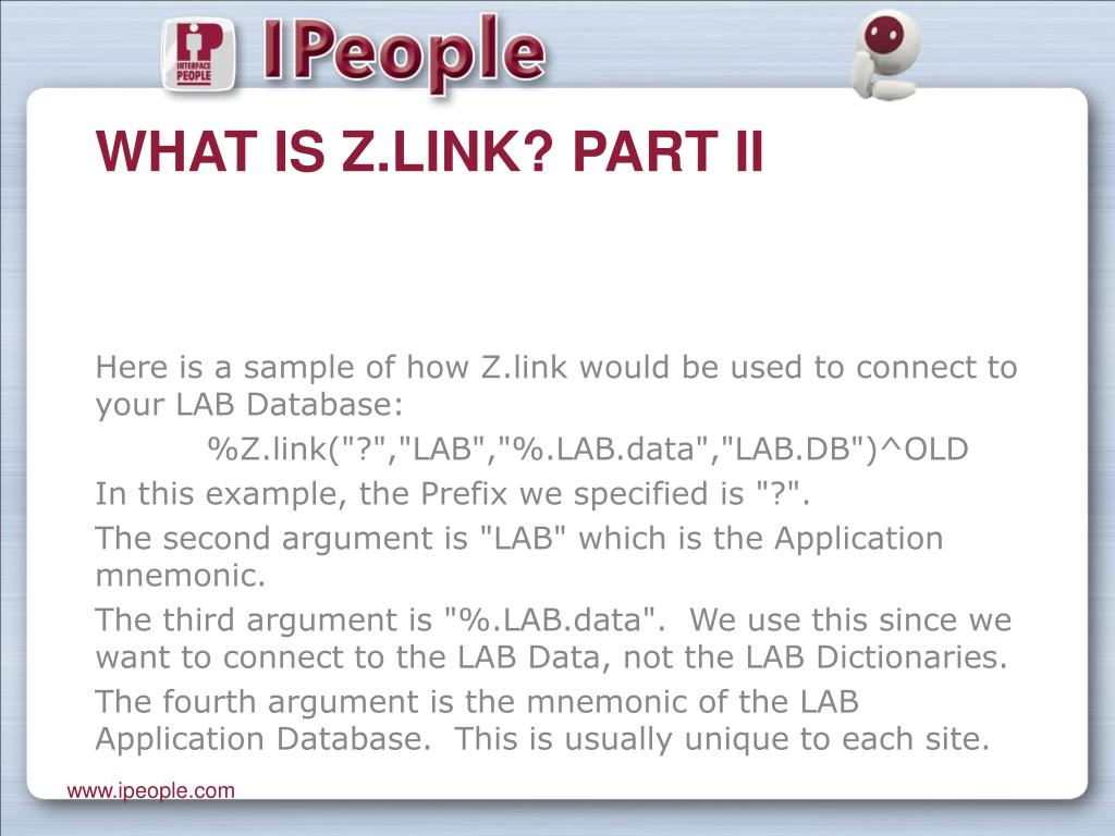 What is Z.link? Part II