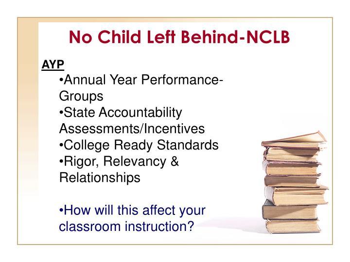 No Child Left Behind-NCLB