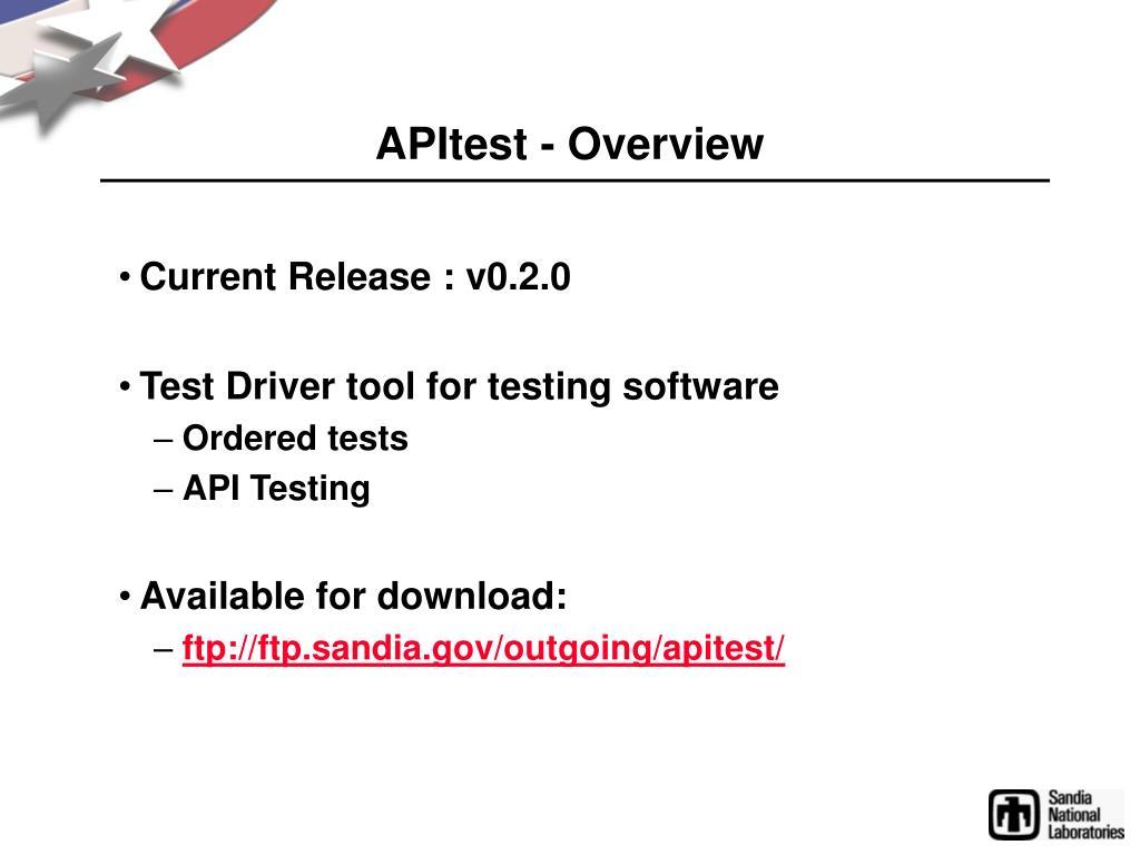 APItest - Overview