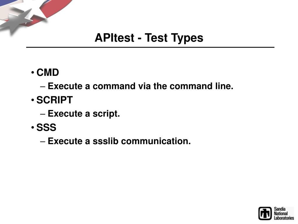 APItest - Test Types