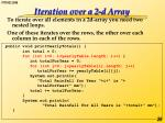 iteration over a 2 d array
