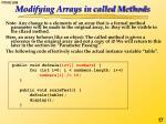 modifying arrays in called methods