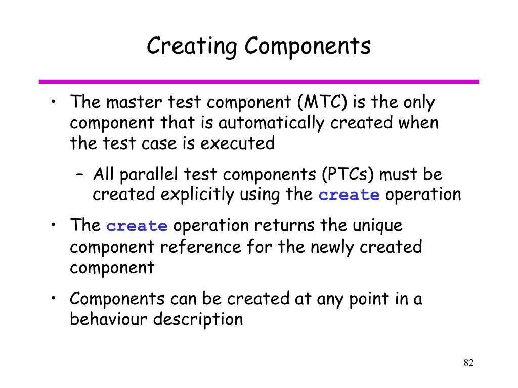 Creating Components