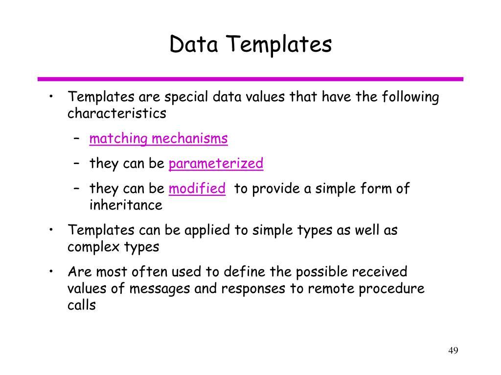 Data Templates