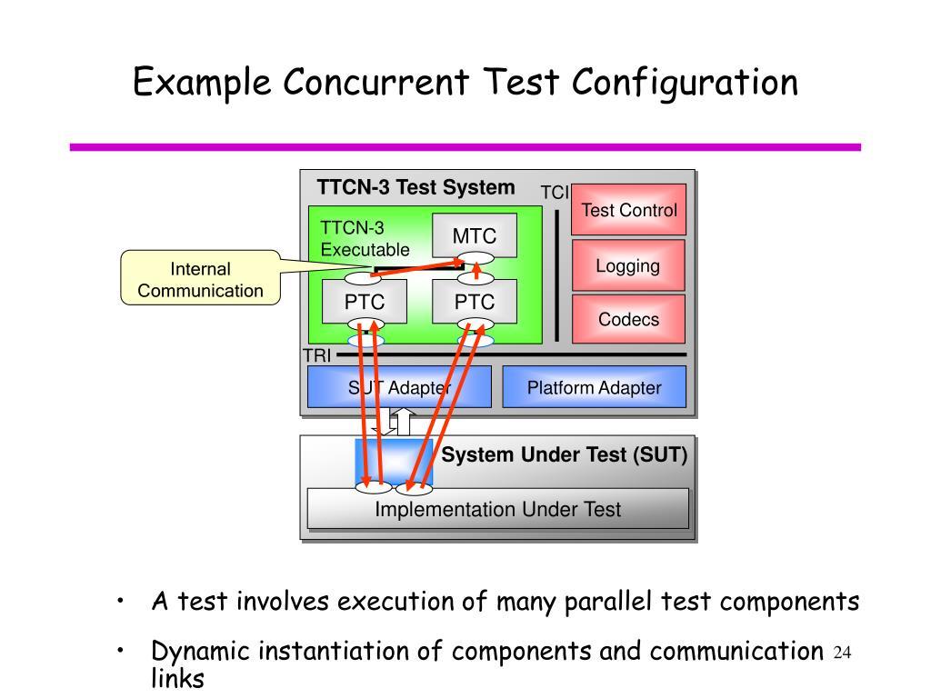 Example Concurrent Test Configuration