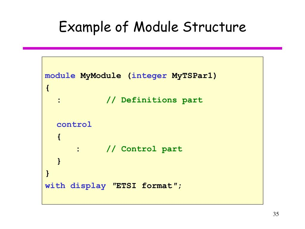 Example of Module Structure