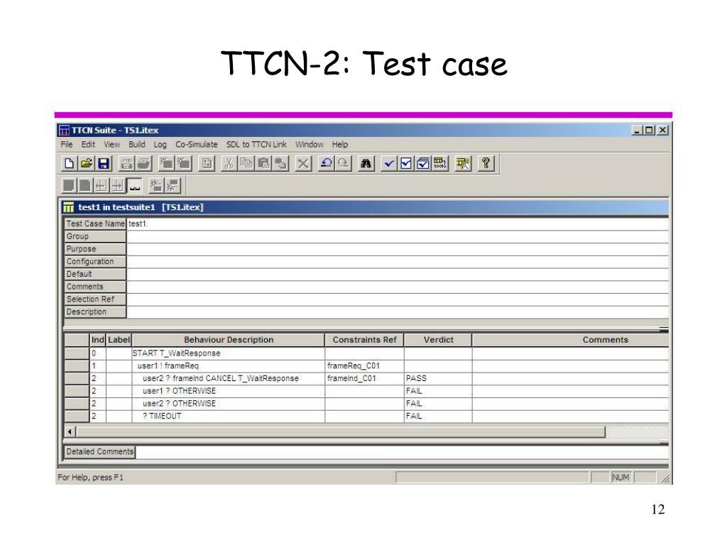 TTCN-2: Test case