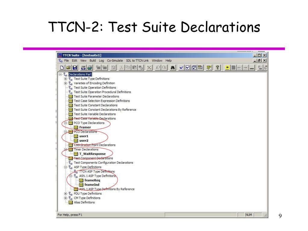 TTCN-2: Test Suite Declarations