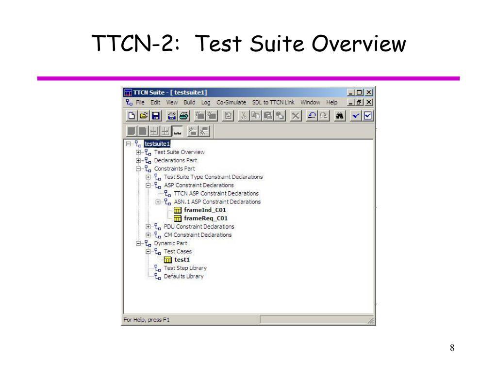 TTCN-2:  Test Suite Overview