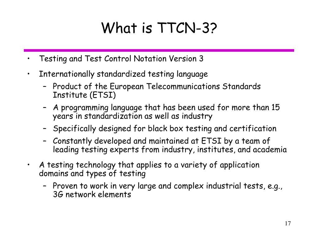 What is TTCN-3?