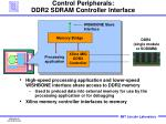 control peripherals ddr2 sdram controller interface