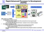 rapid advanced processor in development rapid