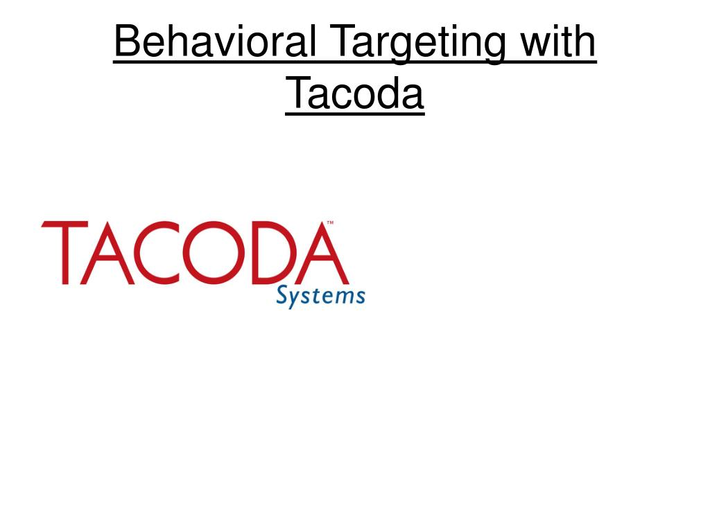 behavioral targeting with tacoda l.
