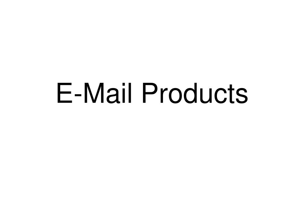 E-Mail Products