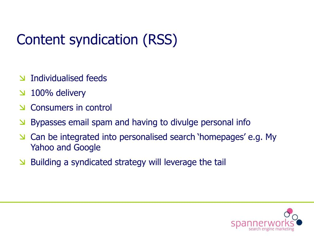 Content syndication (RSS)