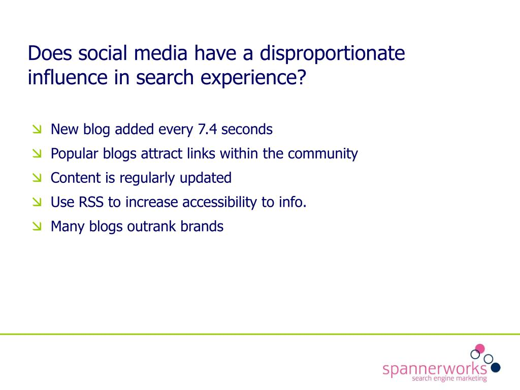 Does social media have a disproportionate influence in search experience?