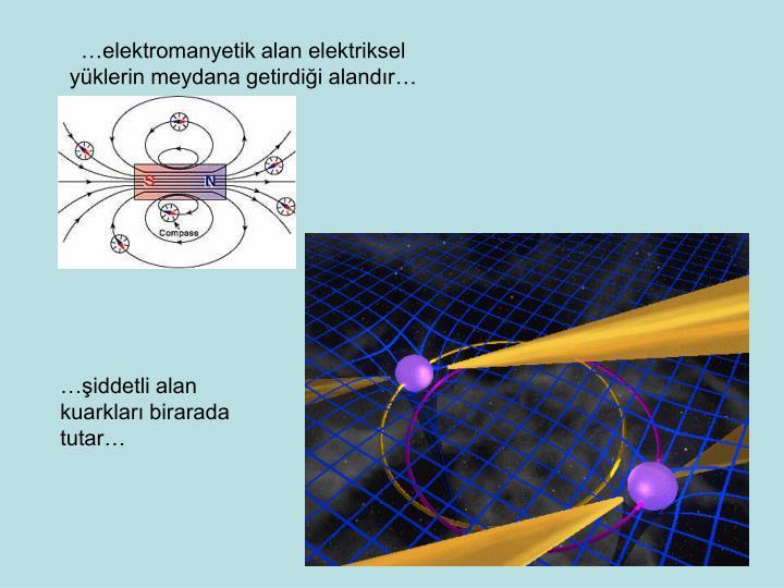 …elektromanyetik alan elektriksel