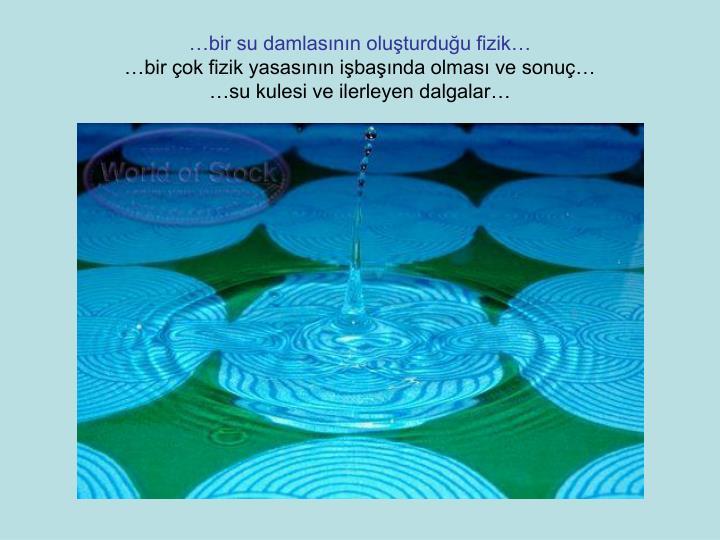 …bir su damlasının oluşturduğu fizik…