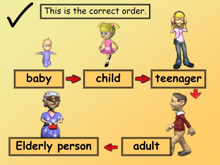This is the correct order.