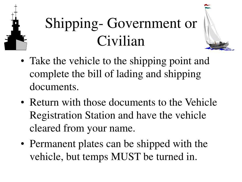Shipping- Government or Civilian