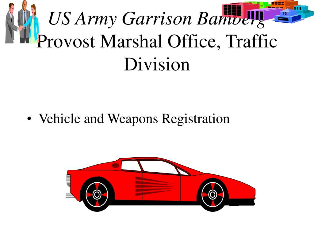 us army garrison bamberg provost marshal office traffic division l.