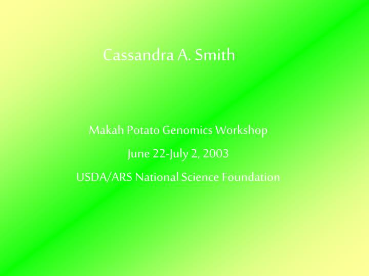 cassandra a smith n.